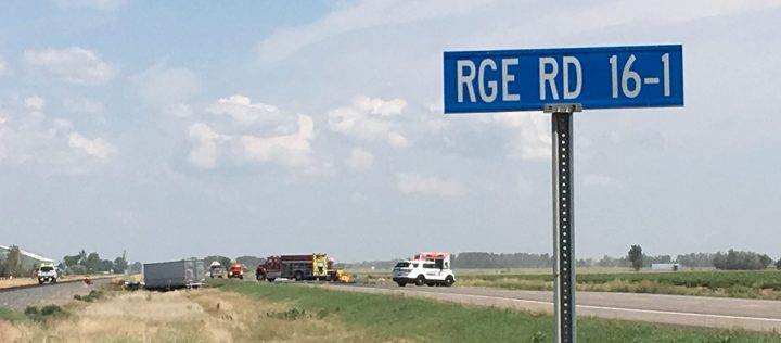 Police responded to a two-vehicle crash near Taber on Saturday, Aug. 3, 2019.