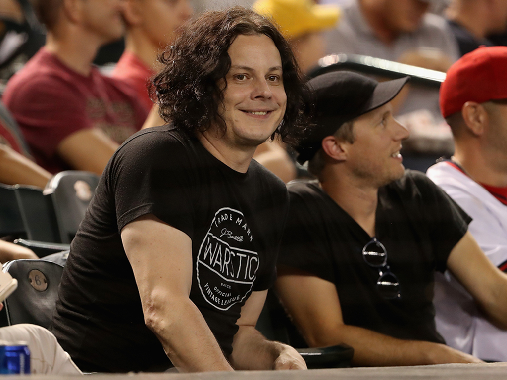 Jack White attends the MLB game between the Arizona Diamondbacks and the Los Angeles Angels at Chase Field on Aug. 22, 2018 in Phoenix, Ariz.
