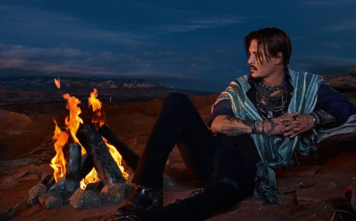 Johnny Depp is the face of Dior's latest campaign for its cologne, 'Sauvage.'.