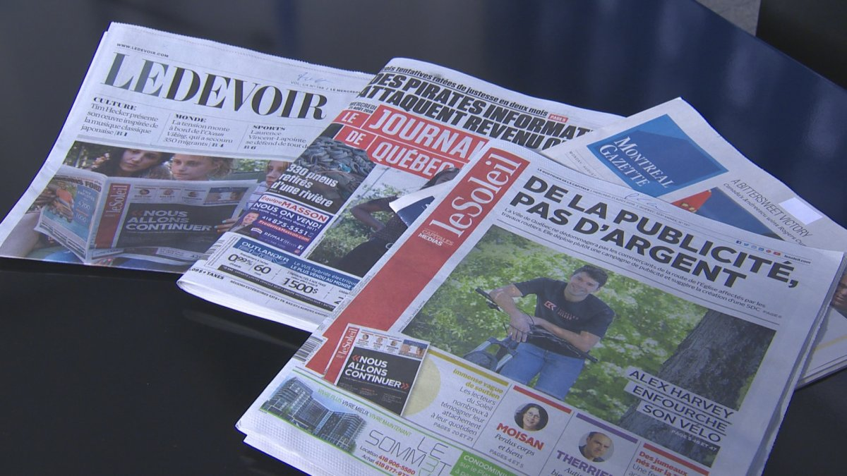 The Quebec government will table a long-term plan to help struggling news companies by this fall.