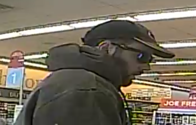 Photo of suspect in relation to three pharmacy robberies in London.