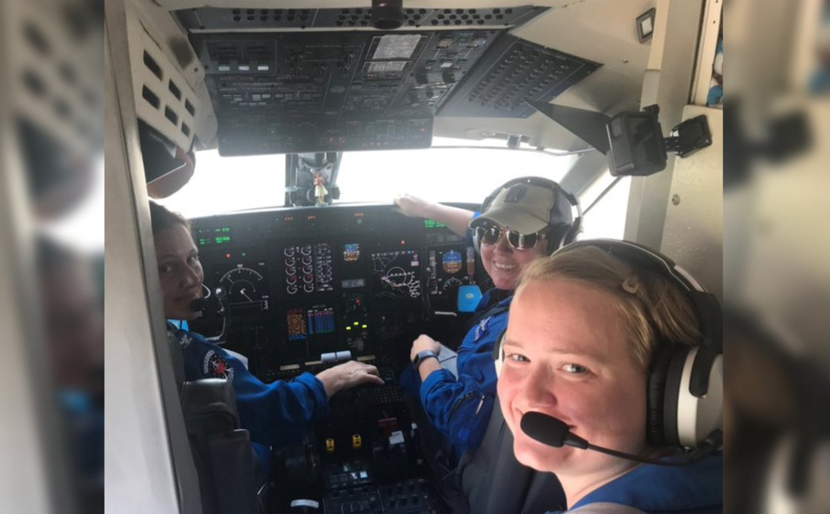 The NOAA set out their first all-female flight crew to monitor Hurricane Dorian.