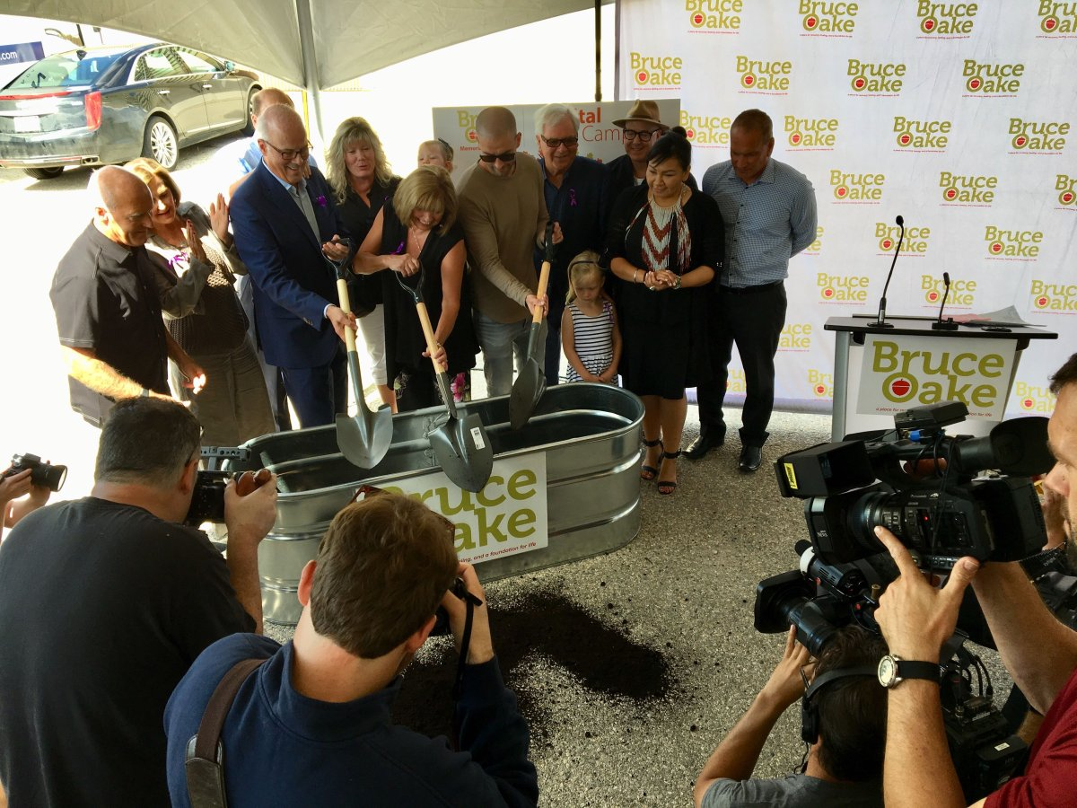 The Bruce Oake Recovery Centre breaks ground at the former Vimy Arena site in Winnipeg.