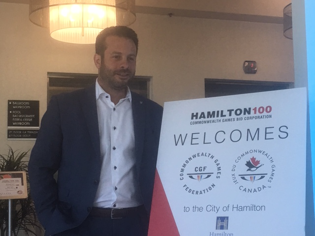 PJ Mercanti, Hamilton 100 President, welcomed officials with the International Commonwealth Games Federation and Commonwealth Games Canada in August to explore a 2030 games bid.