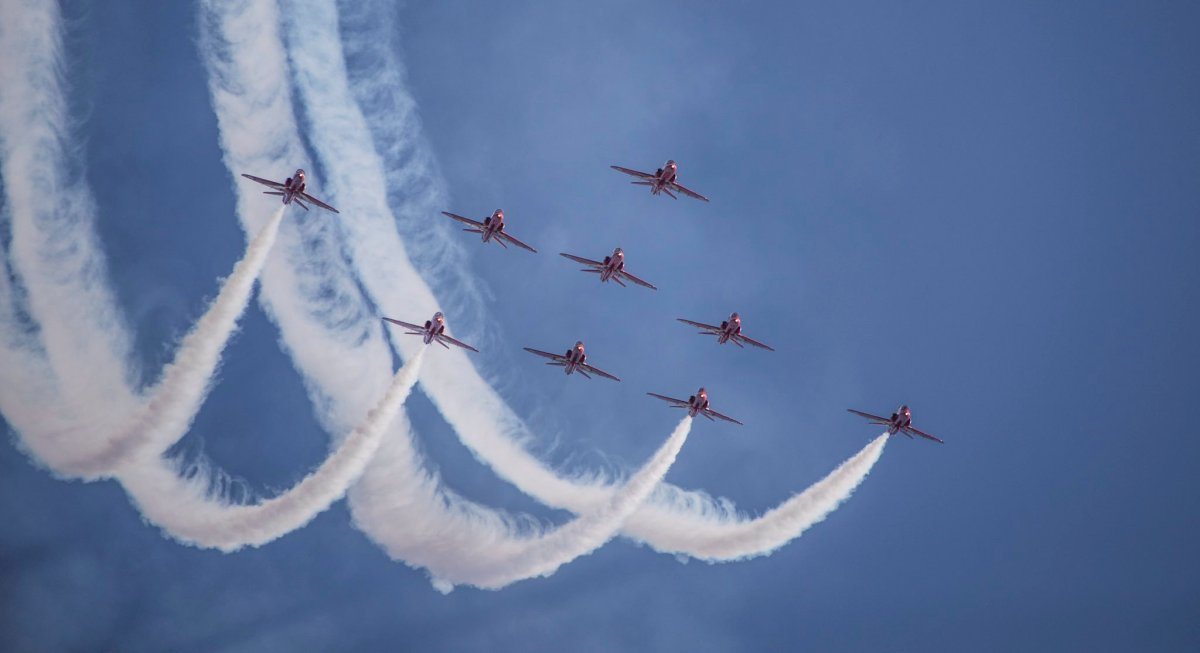The Royal Air Force's Red Arrows are set to take flight over Ottawa and Gatineau on Tuesday.