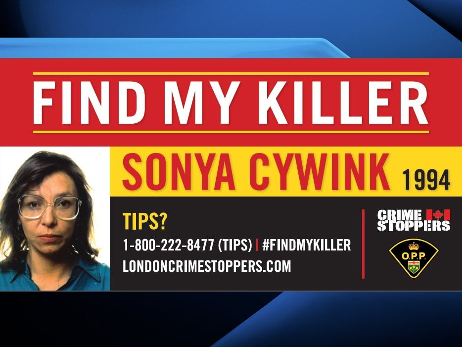 Sonya Nadine Cywink was last seen alive in London on Aug. 26, 1994.
