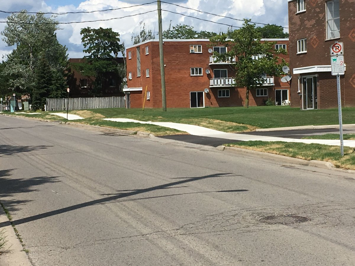 City staff say the sidewalk was part of a retrofit added onto Holland Street in St. Thomas.