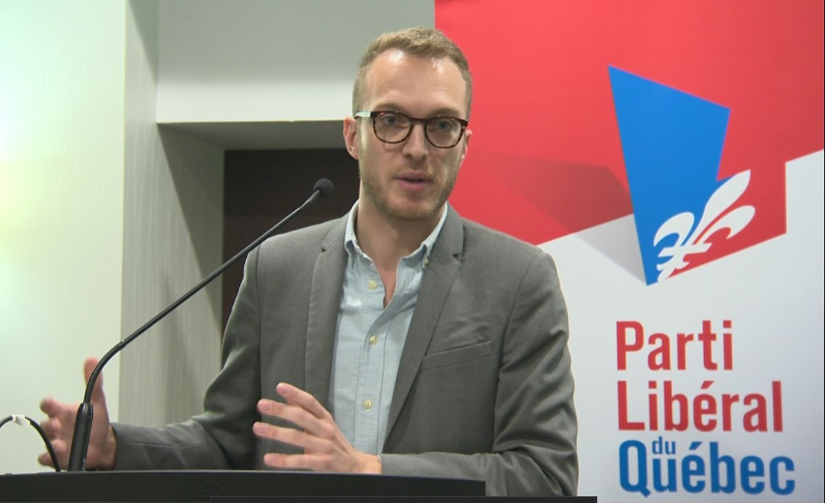 Stéphane Stril, Liberal Youth Commission president presented the youth wing's plan for party renewal in Quebec City. Wednesday, August 7, 2019.