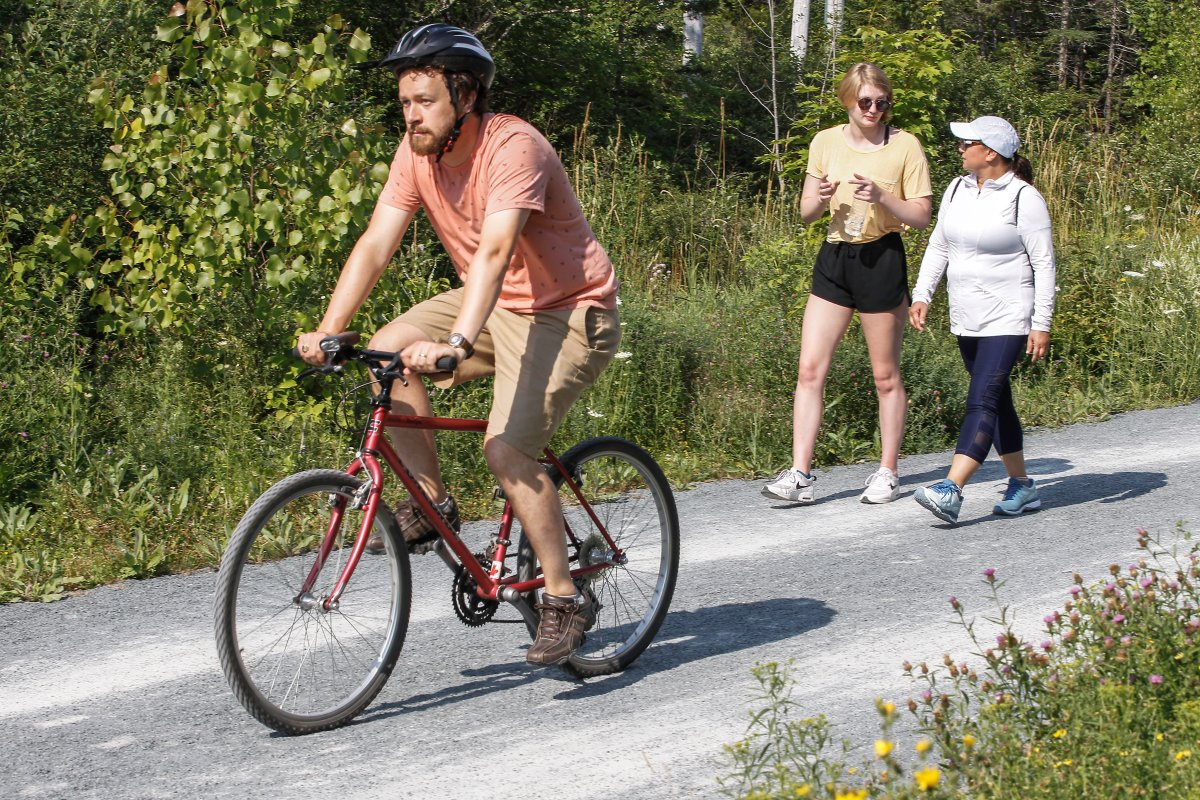 People enjoy the Beechville Lakeside Timberlea Rails to Trails (BLT Trail), a popular multi-use recreational trail in HRM, that offers opportunities for walking, jogging and biking.