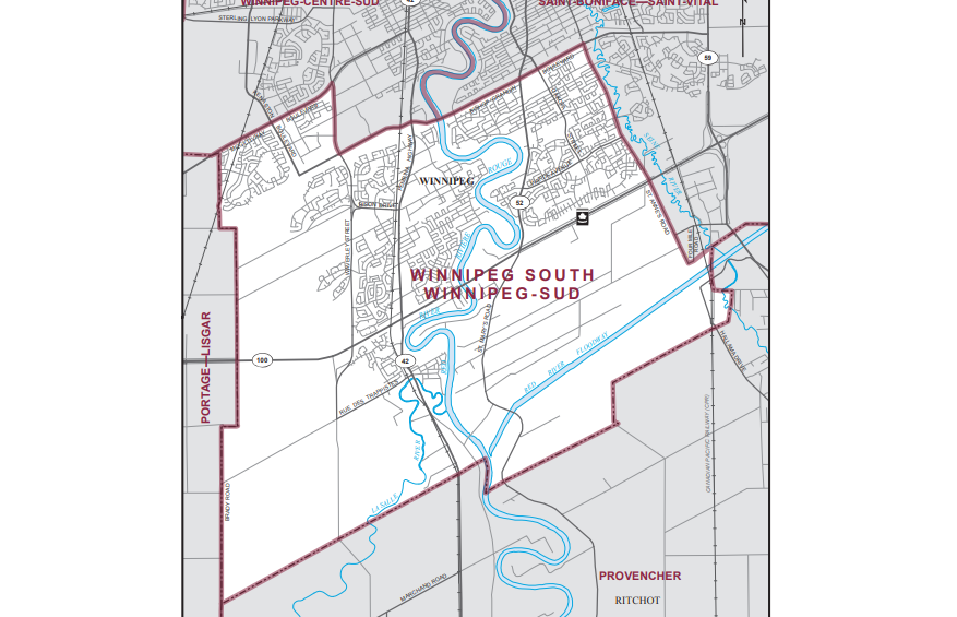 The Federal Riding of Winnipeg South.