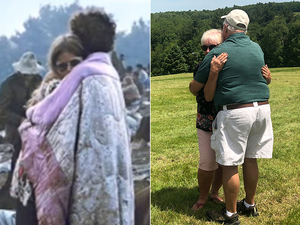 Nick and Bobbi Ercoline, the couple featured on the Woodstock album cover, pose together at the site where the photo was taken 50 years ago, in Bethel, New York, U.S., June 12, 2019.