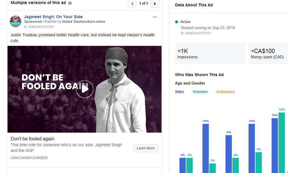 Facebook releases enough data about political ads to hint at how the campaigns are using the social media platform.