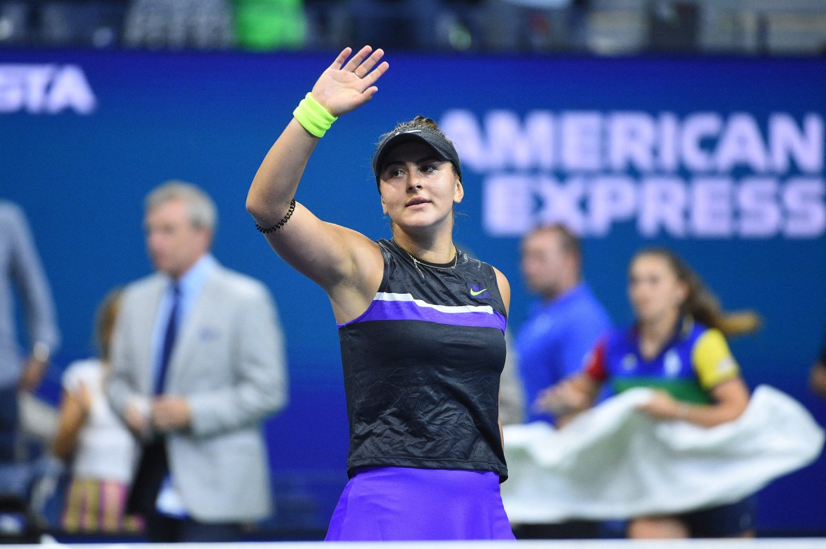 Bianca Andreescu plays her quarter final match at the 2019 US Open at Billie Jean National Tennis Center in New York City, NY, USA on September 4, 2019.