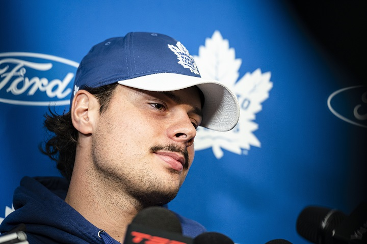 Toronto Maple Leafs say they are aware of complaints of disturbing the peace against captain Auston Matthews.