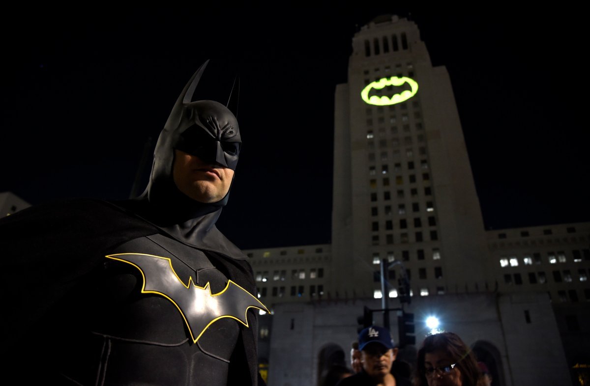 The night sky all over the world is lighting up Saturday, Sept. 21, 2019, with an illumination of the famed bat insignia to mark a special anniversary for Batman.