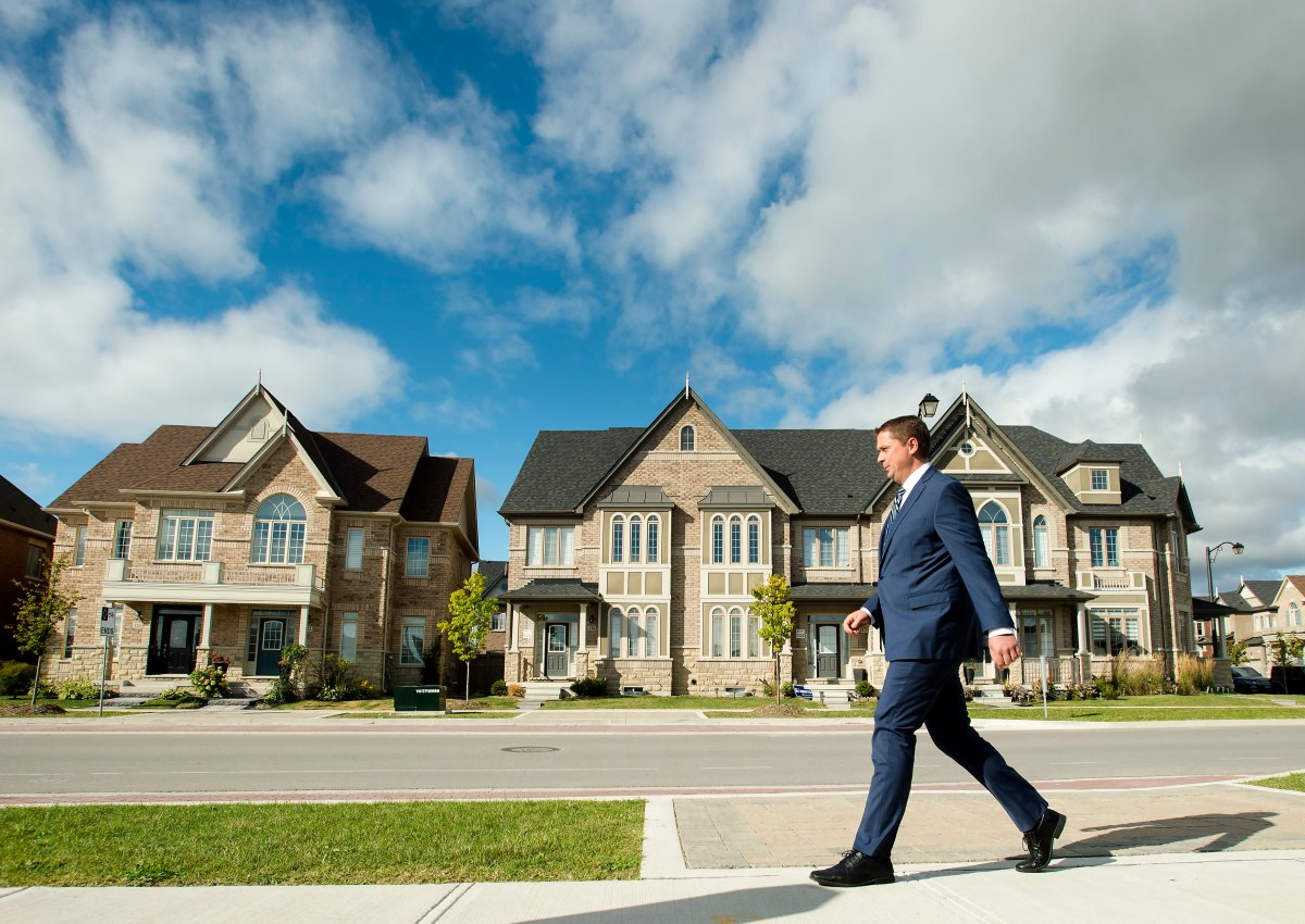 Federal Conservative Leader Andrew Scheer makes a campaign stop in Vaughan, Ont., on Monday, Sept. 23, 2019.