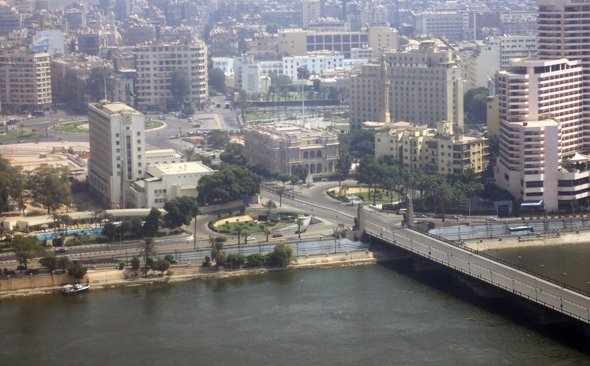 The closed Tahrir square in Cairo, Egypt, on Sept. 27, 2019. Egypt is preparing for a second weekend of protest pro and contra the government of President al-Sisi.