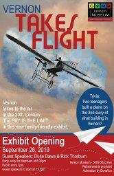 Continue reading: Vernon Takes Flight: Exhibit Opening