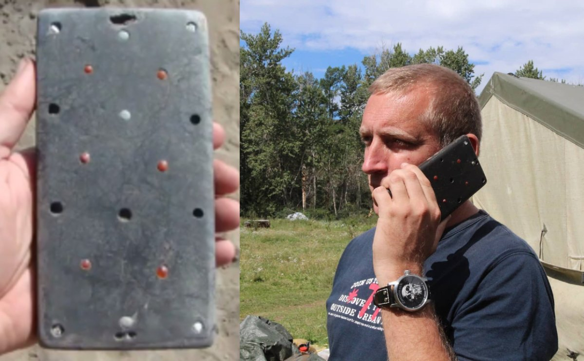 "Archaeologist Pavel Leus shared a few photos on Instagram of an ancient ""iPhone case"" discovered in southern Siberia."