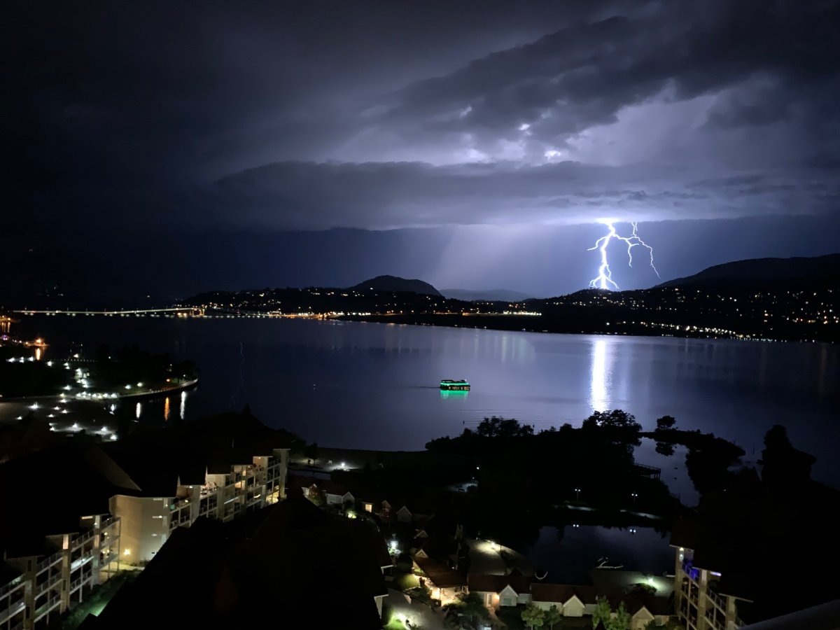 Okanagan lightning storm.