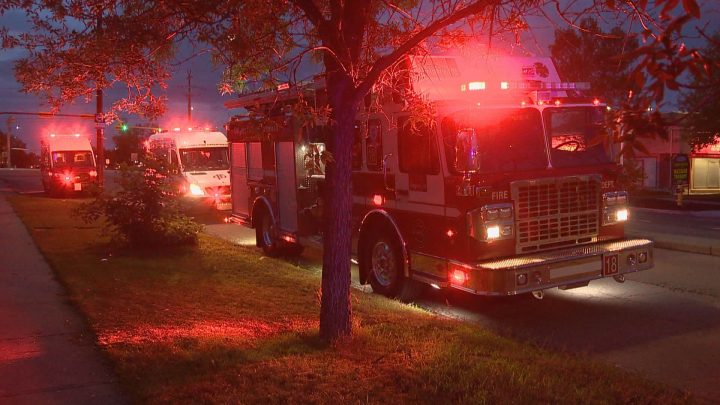 A man suffered extensive injuries after a backyard fire incident in Calgary on Tuesday, Sept. 10, 2019.