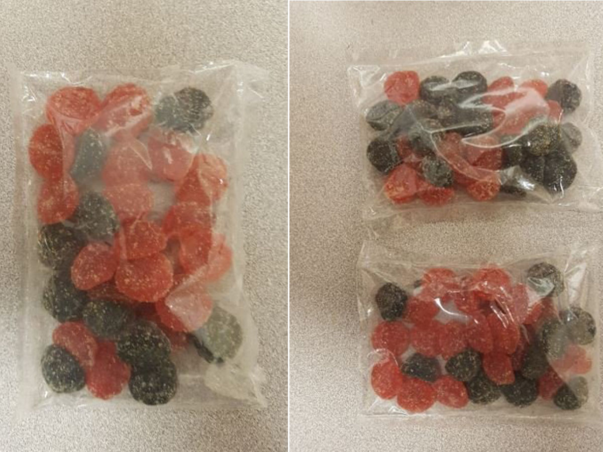 Police say three separate people were hospitalized by tainted candy.