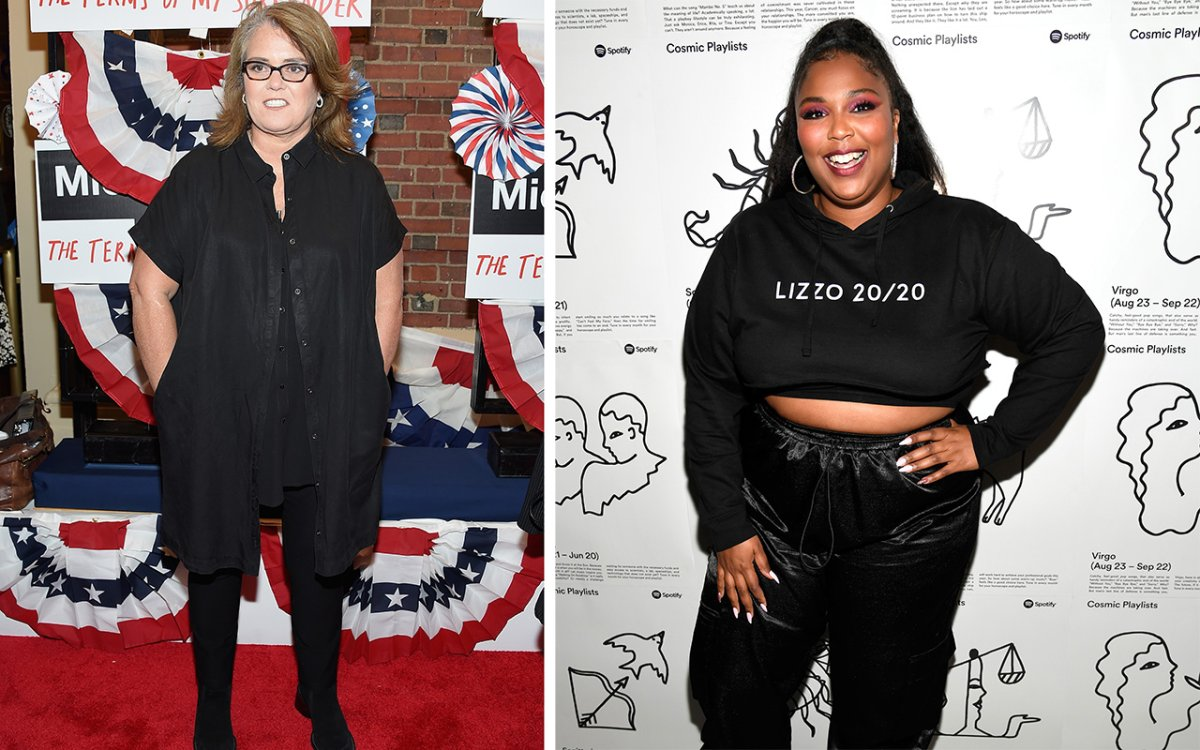(L-R): Rosie O'Donnell and Lizzo.