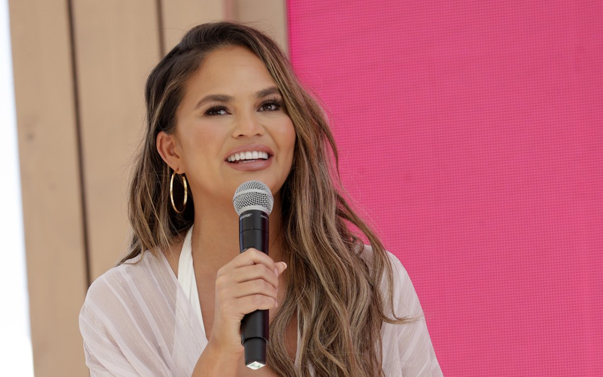 Chrissy Teigen goes behind the Tweets at #TwitterBeach at Cannes Lions on June 18, 2019 in Cannes, France.