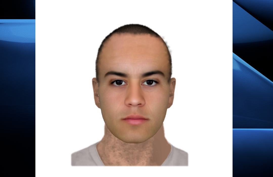 London police have released this composite sketch of the suspect in hopes that someone will be able to recognize him.