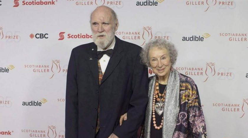 Margaret Atwood and Graeme Gibson stop on the red carpet at the Scotiabank Giller Bank Prize gala in Toronto on Monday, November 19, 2018. Penguin Random House Canada says Canadian author Graeme Gibson has died at 85. He is survived by his partner, Margaret Atwood.