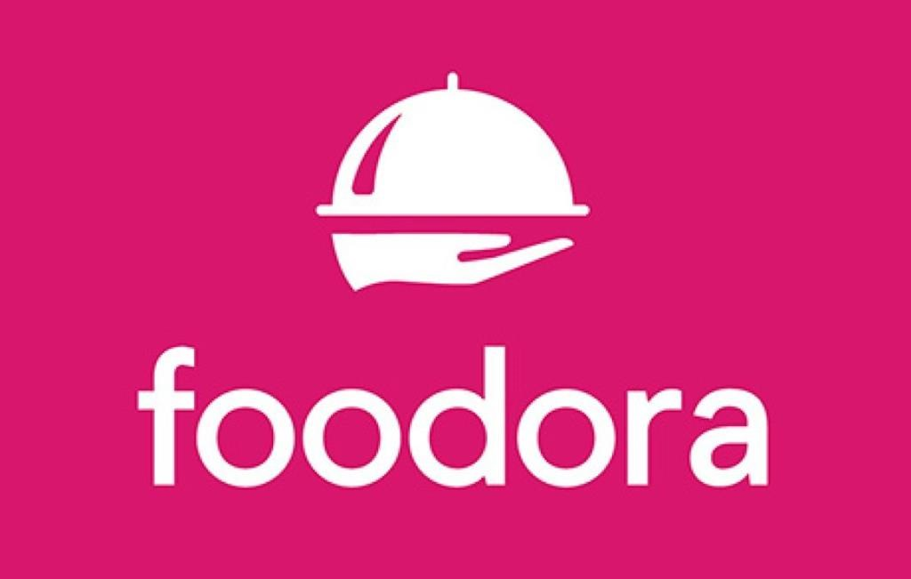 The Foodora logo is shown in a handout.