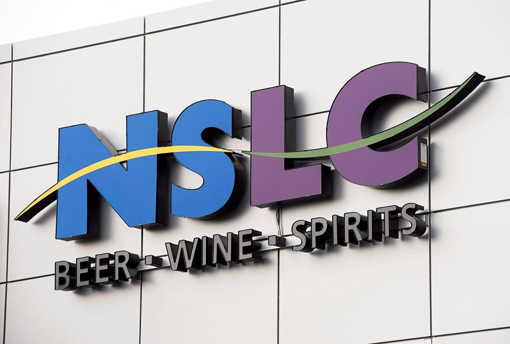 The logo of the Nova Scotia Liquor Commission is seen in Halifax on Wednesday, Sept. 4, 2013.