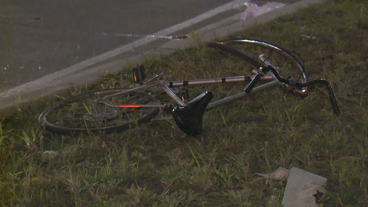 The 57-year-old cyclist was taken to hospital with serious injuries.