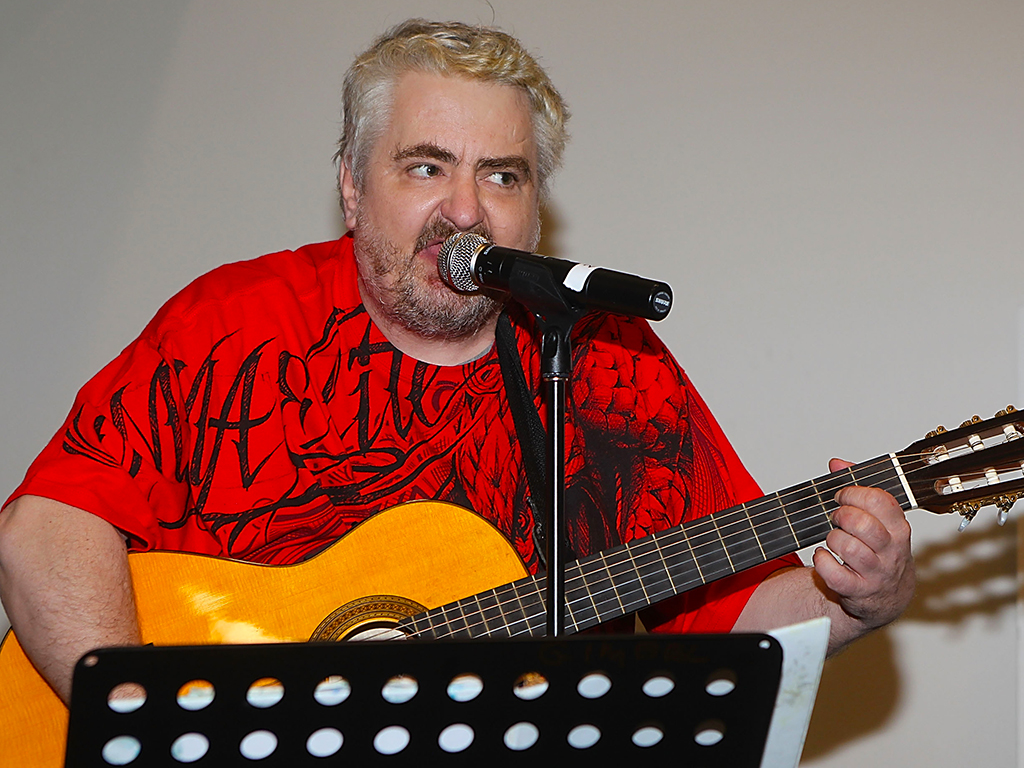 Daniel Johnston performs at the Austin Convention Center during the South By Southwest Music Festival on March 19, 2011 in Austin, Texas.