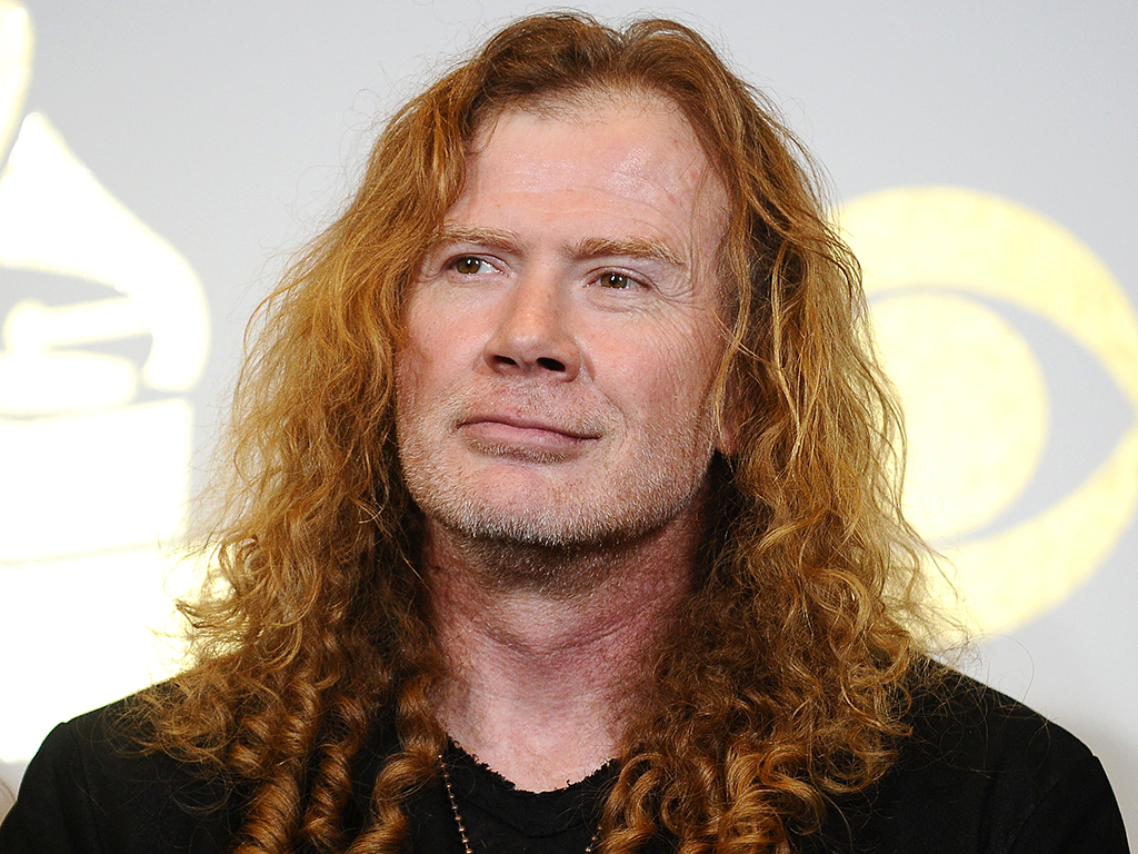 Dave Mustaine of Megadeth poses in the press room at the 59th Grammy Awards at Staples Center on Feb. 12, 2017 in Los Angeles, Calif.