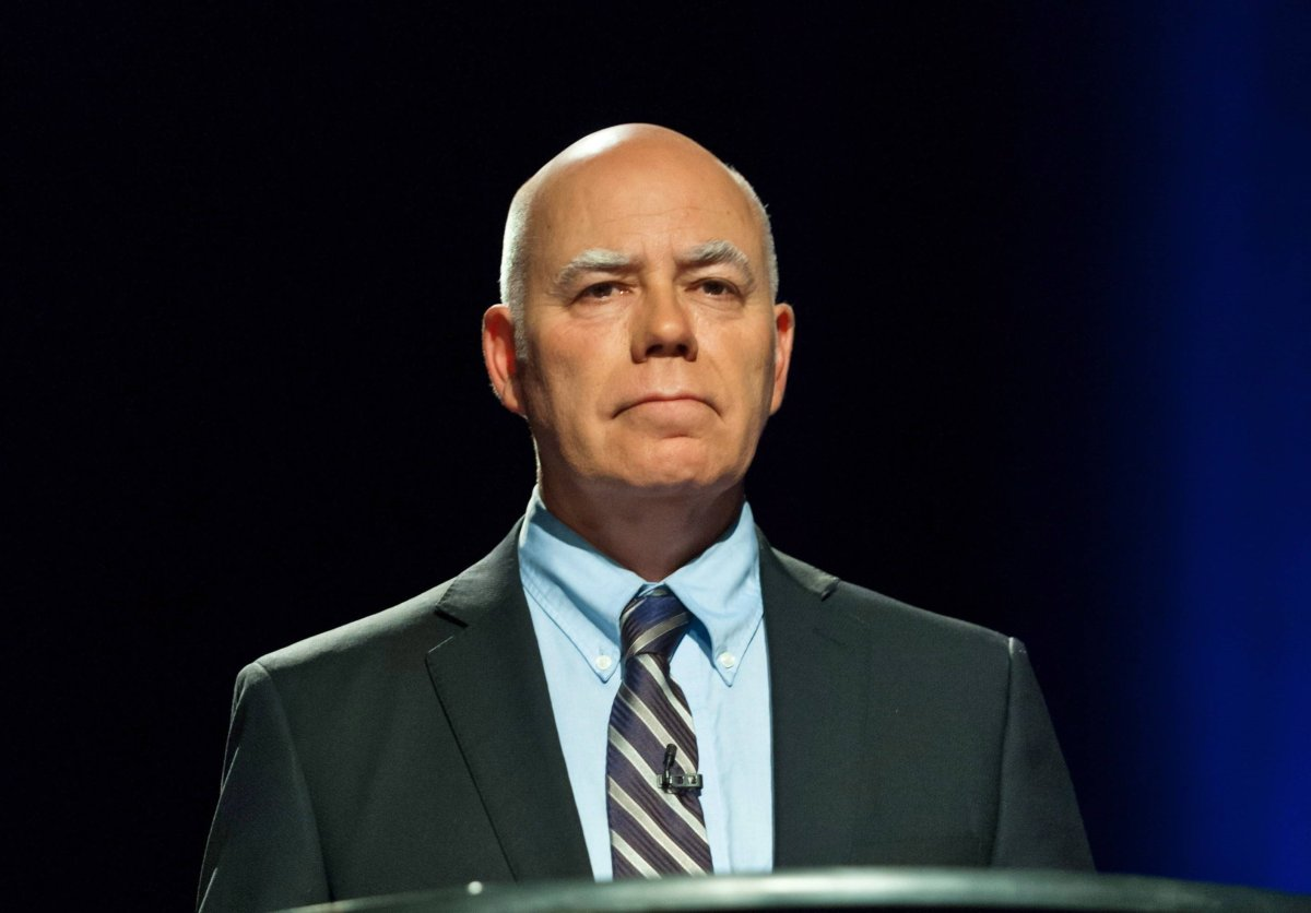Green party leader David Coon participates in the CBC televised debate of the provincial election which was held in Riverview, New Brunswick on Wednesday September 12, 2018.