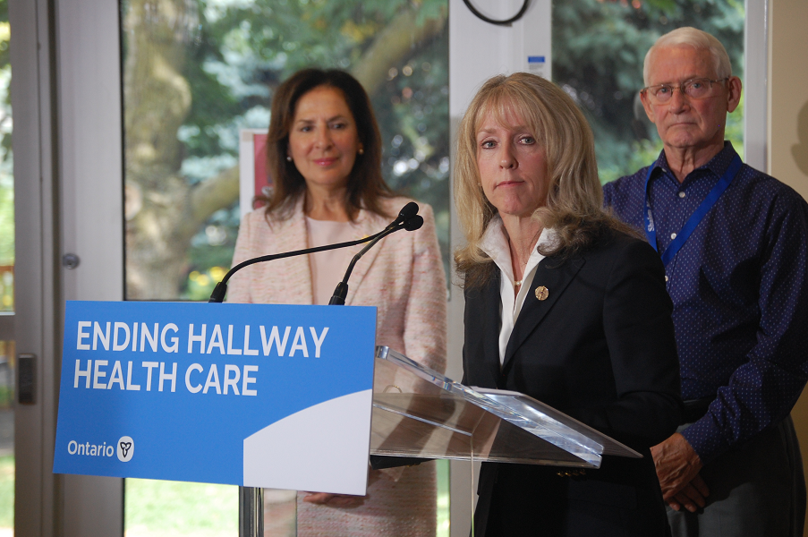 Minister of Long-Term Care Dr. Merrilee Fullerton made the announcement at Shalom Manor in Grimsby on Tuesday.