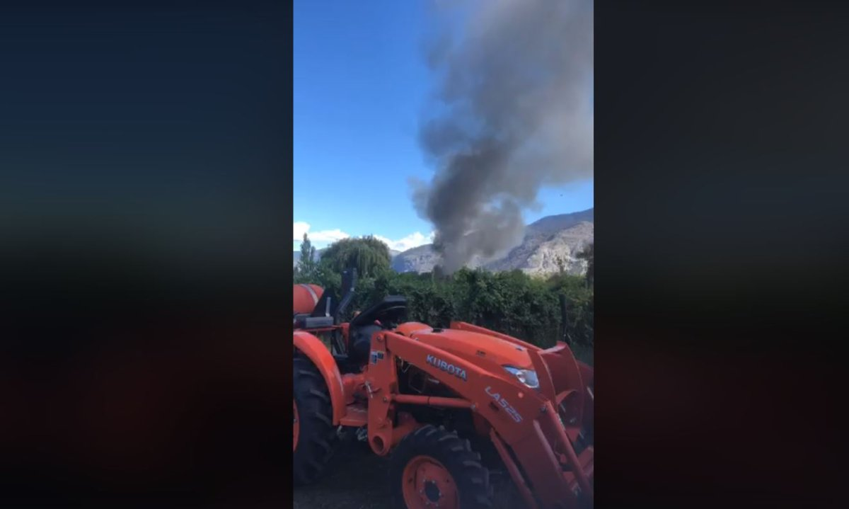 A major fire north of Oliver, BC., alarmed area residents on Sunday afternoon.