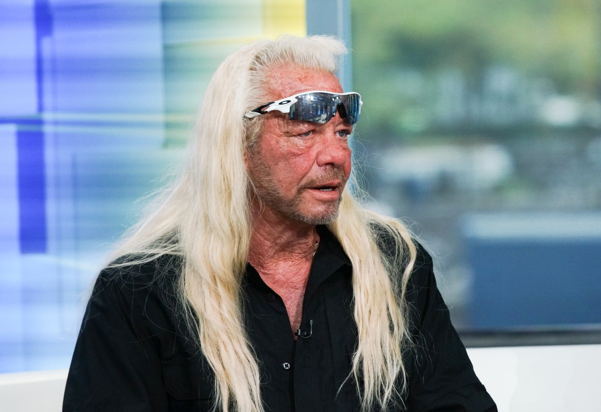 TV personality Duane Chapman aka Dog the Bounty Hunter visits 'Fox & Friends' at Fox Studios on Aug. 28, 2019 in New York City.