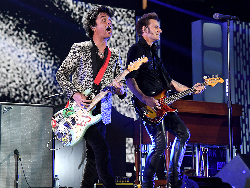 Mike Dirnt (R) and Billie Joe Armstrong of Green Day perform onstage during the 2019 iHeartRadio Music Festival at T-Mobile Arena on Sept. 20, 2019 in Las Vegas, Nev.
