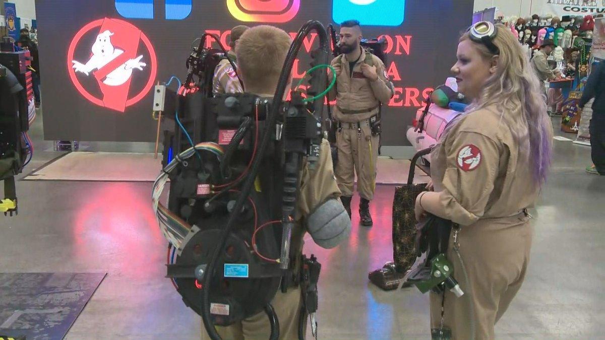 The Alberta Ghostbusters at the 2019 Edmonton Comic & Entertainment Expo.