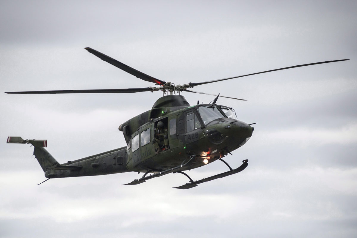 A Canadian CH-146 Griffon helicopter.