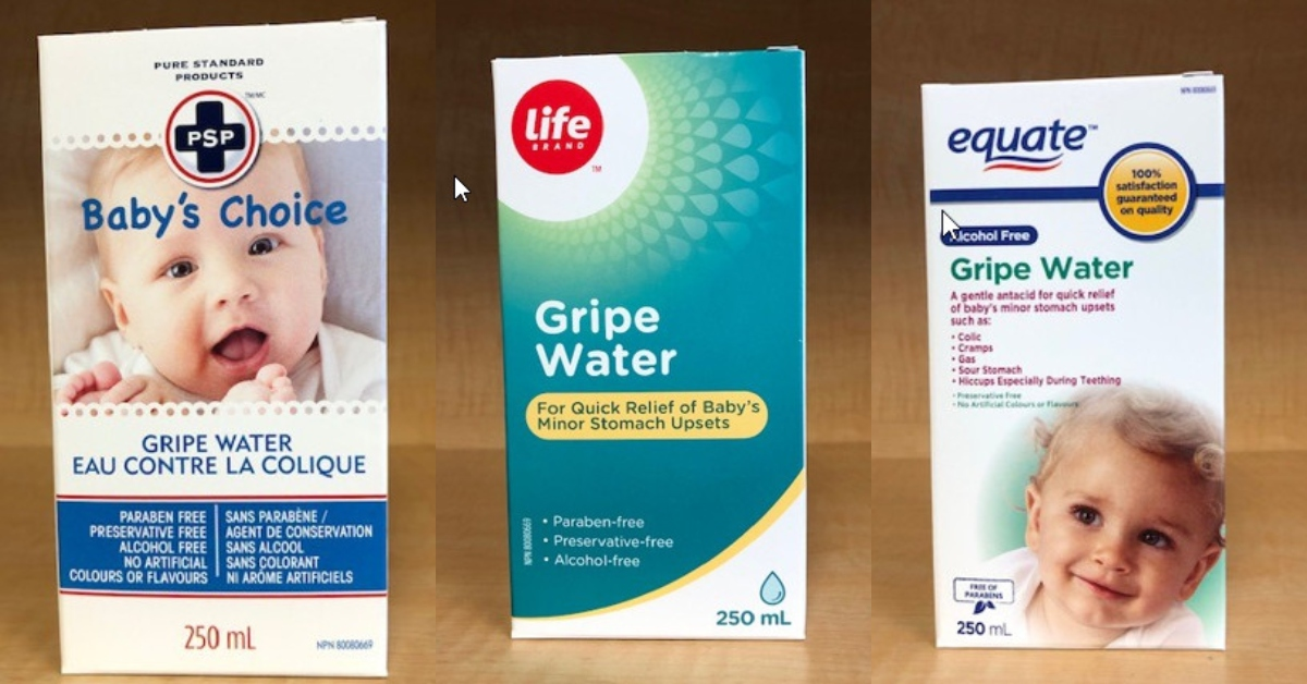 Three of the nine brands selling gripe water Health Canada is recalling due to microbial contamination concerns.