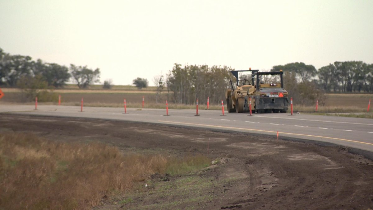 Construction of 50 kilometres of paving and passing lanes is underway on Highway 7 between Saskatoon and Kindersley.