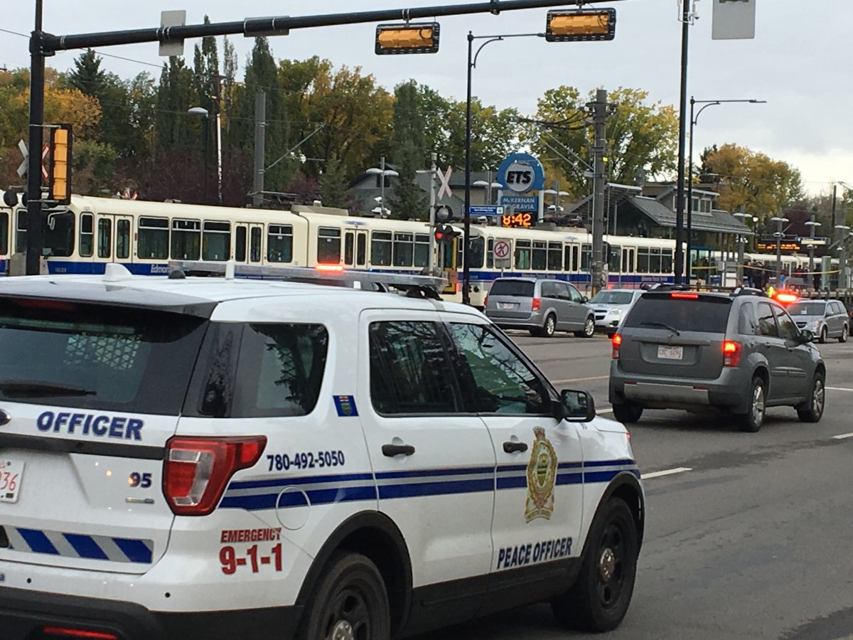 Police are investigating a death at the McKernan/Belgravia LRT station on 114 Street at 76 Avenue on Friday, Sept. 27, 2019.