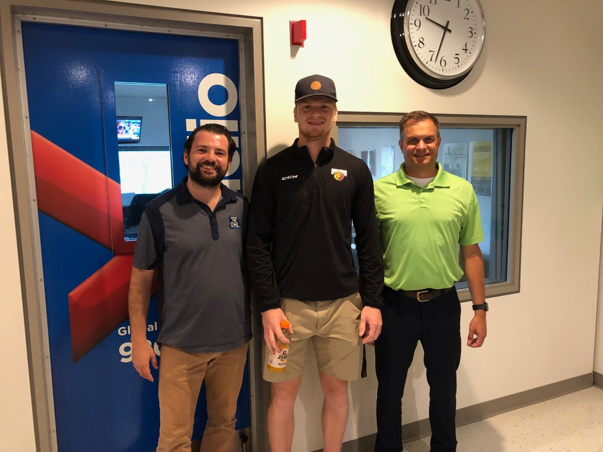 Owen Sound Attack defenceman Mark Woolley joins Jake Jeffrey and Mike Stubbs on 'Around the OHL.'.