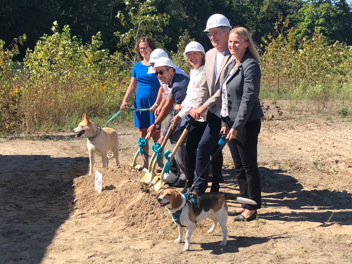 The Guelph Humane Society broke ground on their new facility on Tuesday.