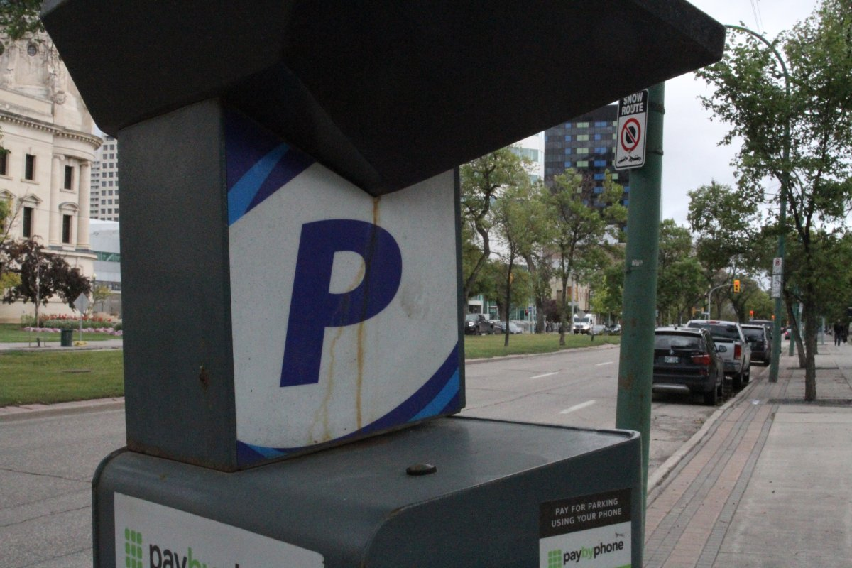 A Winnipeg Parking Authority machine.