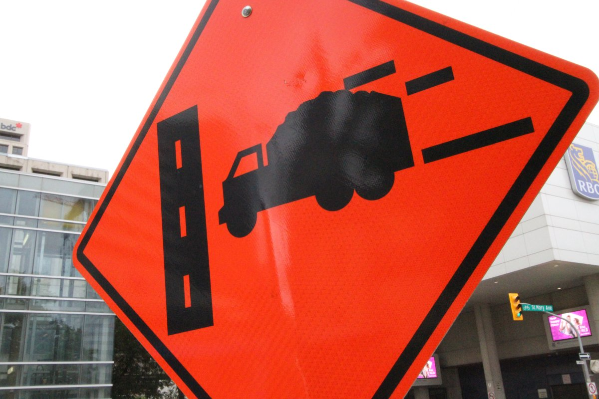 Construction is taking place this weekend on two major Winnipeg streets.