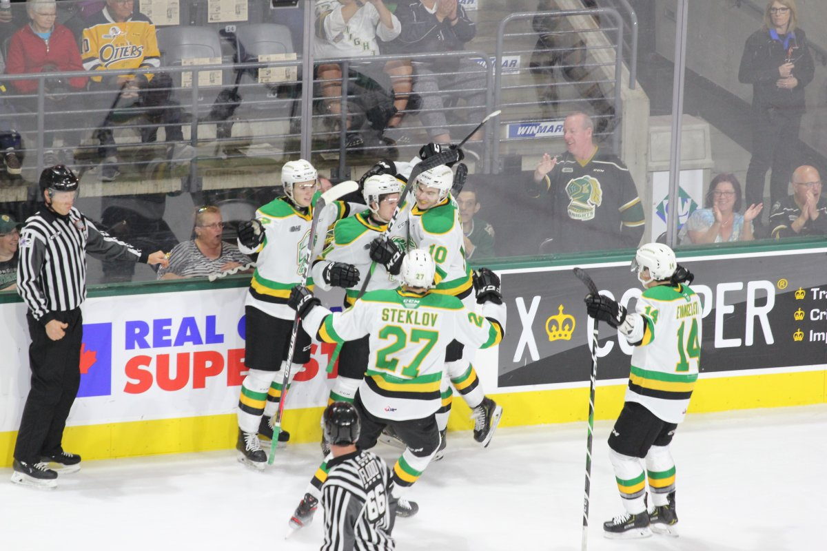 Three assists from Luke Evangelista lead the London Knights to first win of the year - image